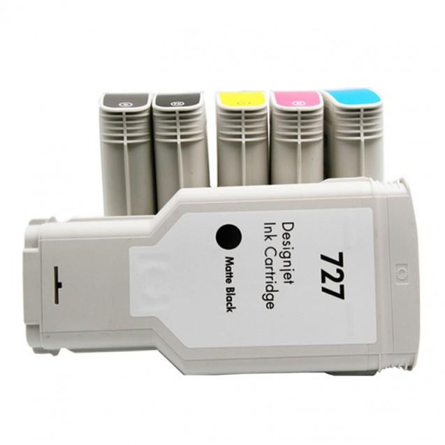 兼容 HP727 墨盒 130ml - 适用DesignJet T920 T1500 T2500 T930 T1530 T2530